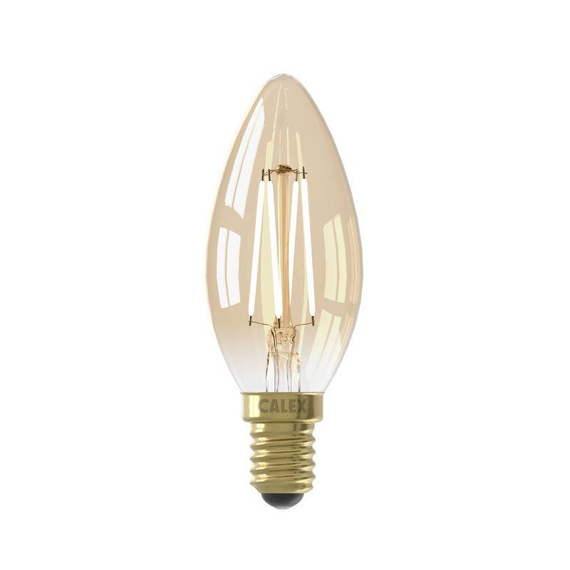 Calex Kerze Gold / 2 Watt E14