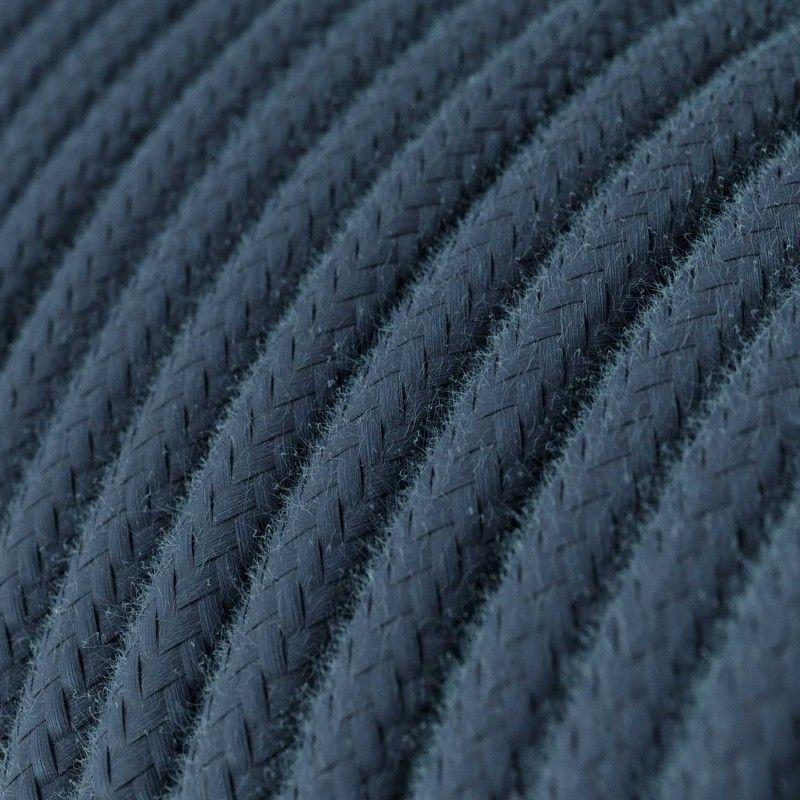 Textilkabel Naturgewebe 2x0.75mm / Stone Gray in Baumwolle
