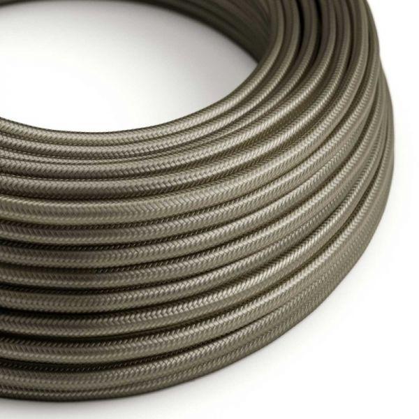 Textilkabel 2x0.75mm / Grey Silk in Seideneffekt