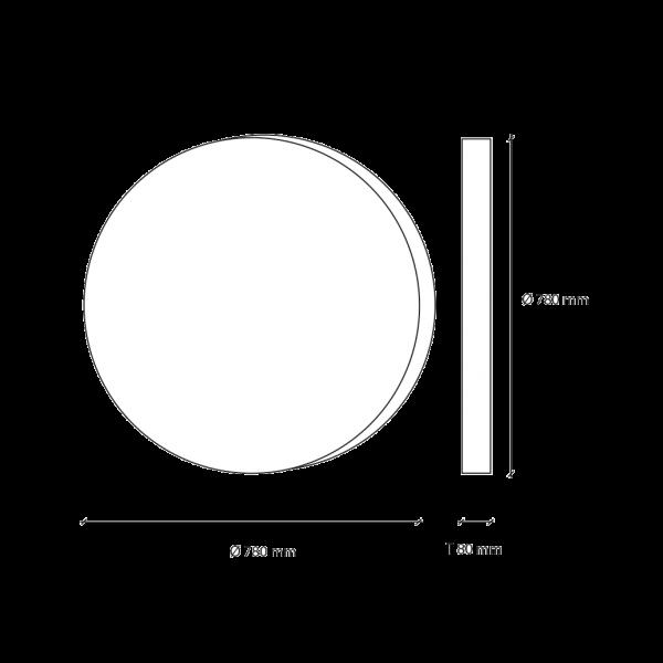 LED-Mondlampe, gross, Ø78cm – Vermassung