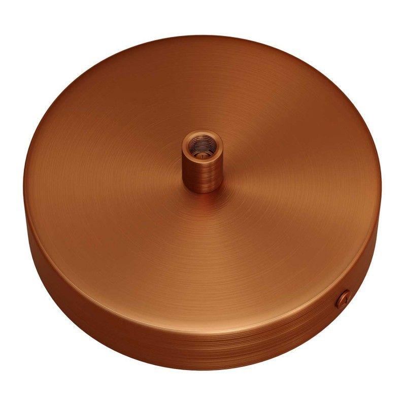 1 Loch Metall Baldachin Kit / Kupfer satiniert / Zugentlastung Metall