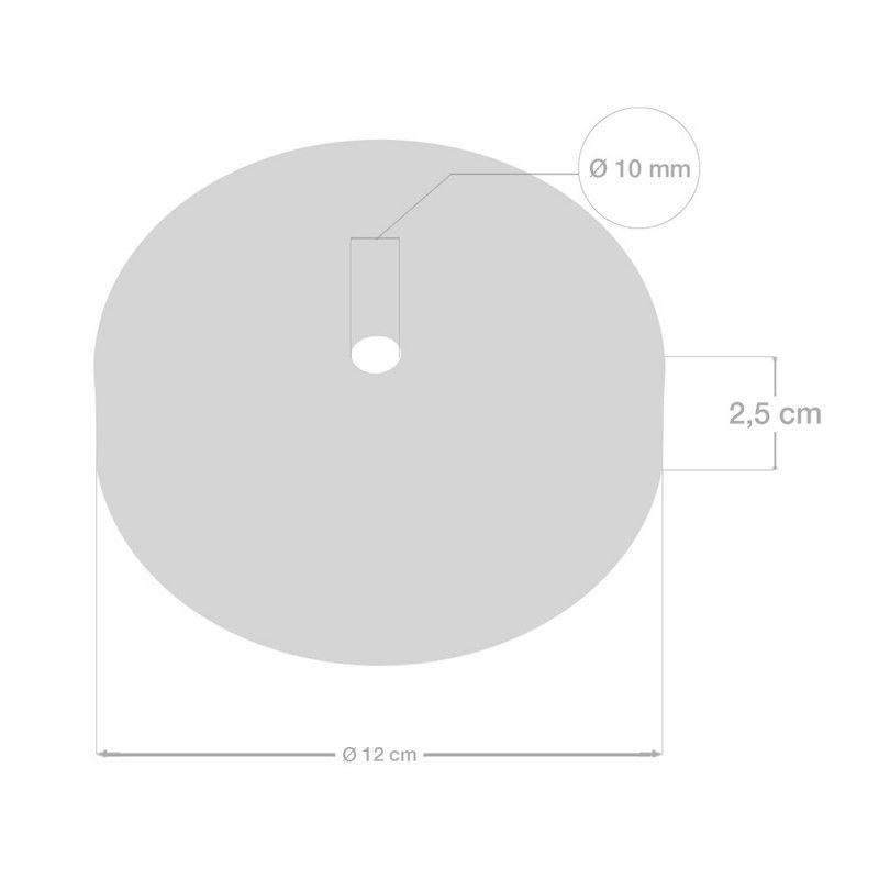 1 Loch Metall Baldachin Kit / Kupfer