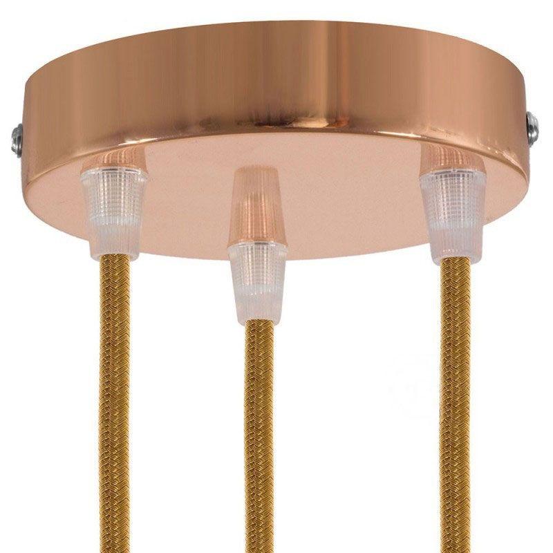 3 Loch Metall Baldachin Kit / Kupfer / Zugentlastung Kunststoff