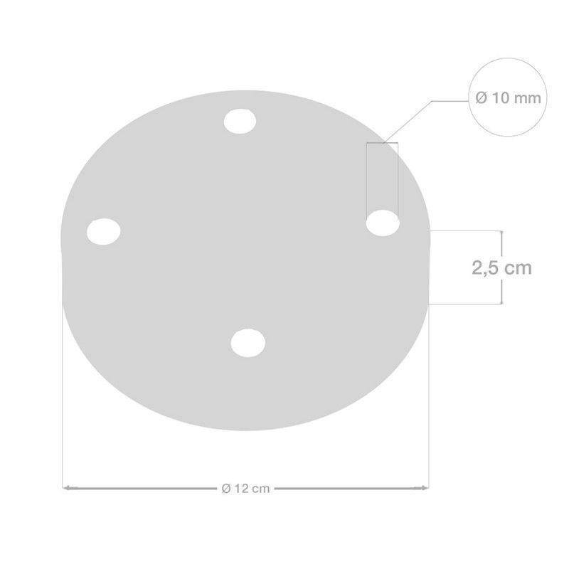 4 Loch Metall Baldachin Kit / Schwarz