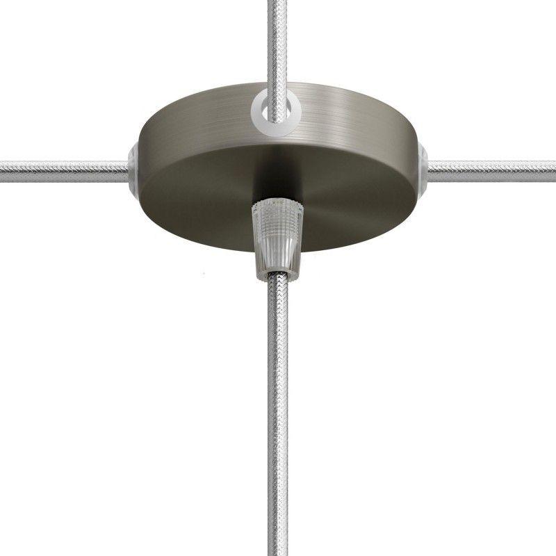 5 Loch Metall Baldachin Kit / titan satiniert / Zugentlastung Kunststoff