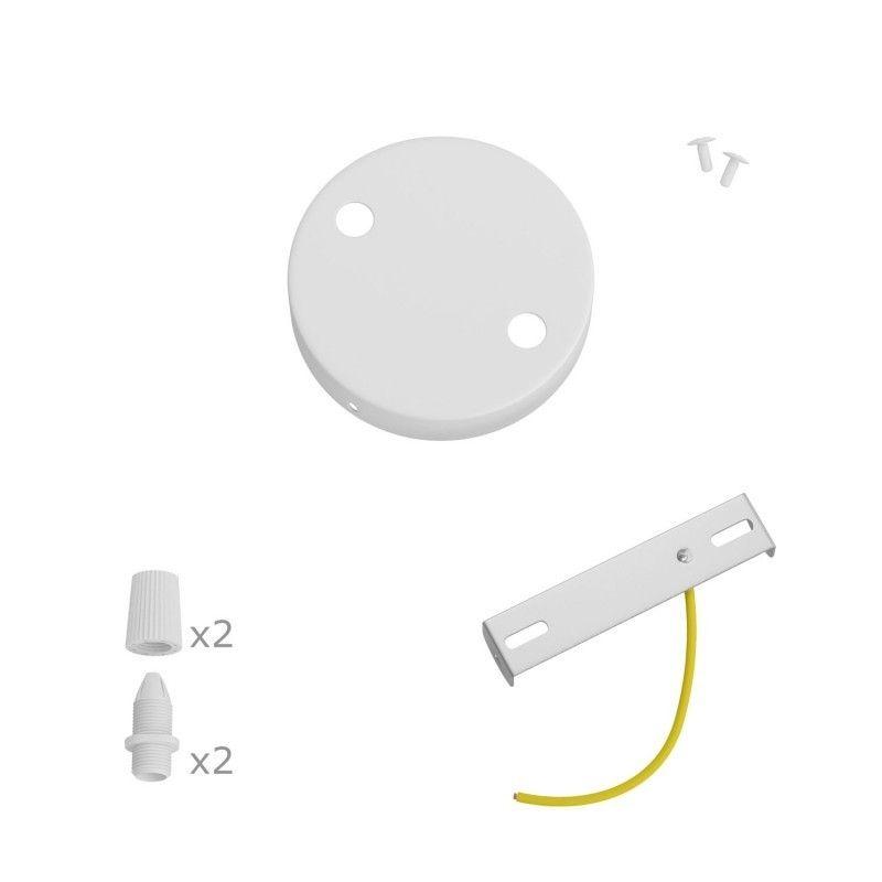 6 Loch Metall Baldachin Kit / Mattweiss / Zugentlastung Kunststoff