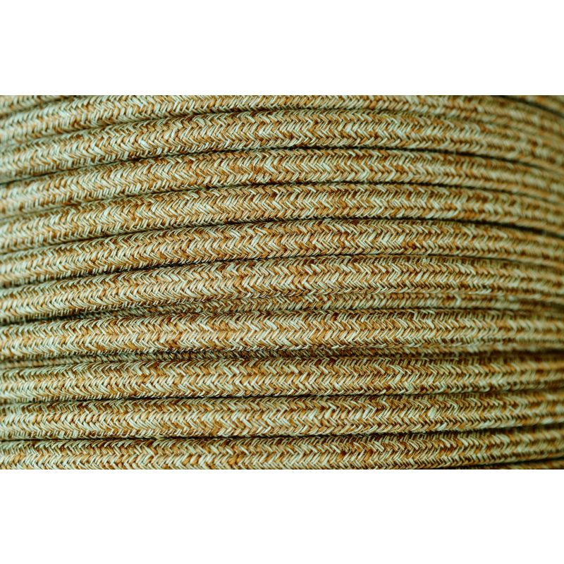 Textilkabel Naturgewebe 3x0.75mm / Rusty Tweed in Baumwolle