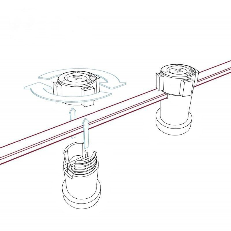 Thermoplast Fassung für Lichterketten