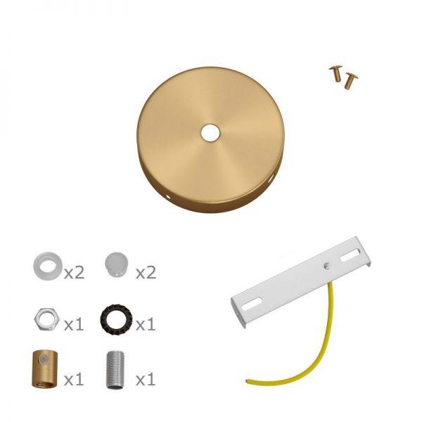 5 Loch Metall Baldachin Kit / bronze satiniert / Zugentlastung Metall