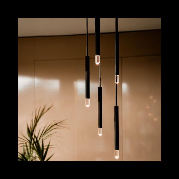 BEISIK LED Pendelleuchte Candle LH5R Schwarz / 7 Watt