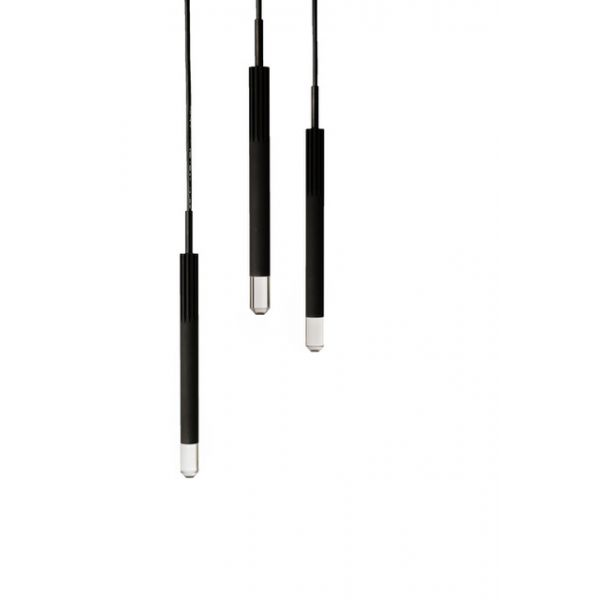 BEISIK LED Pendelleuchte Candle LH3R Schwarz / 7 Watt