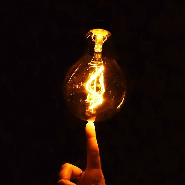Outdoor LED Birne G125, batteriebetrieben