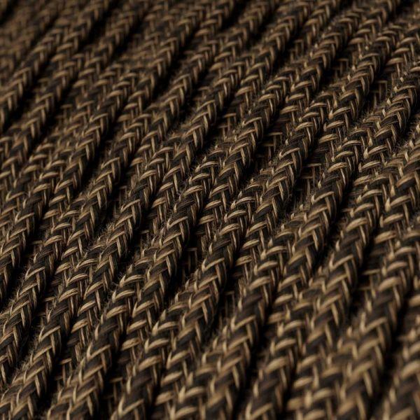 Textilkabel Naturgewebe 2x0.75mm / Braun verdrillt